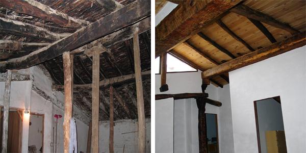 restauración cubierta degradada